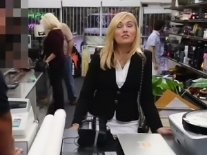 The MILF and Her Office Equipment At The Pawn Shop