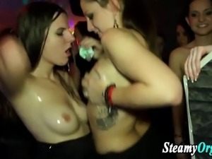 Real cfnm teens partying with pussy and cock