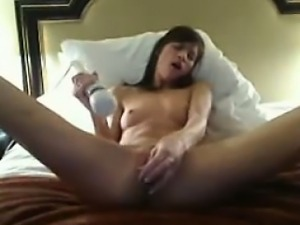 Sexy milf babe fucks her creamy pussy until she squirts 3