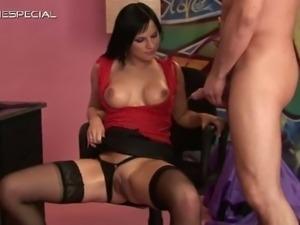 Slut in stockings gets pissed in her part6