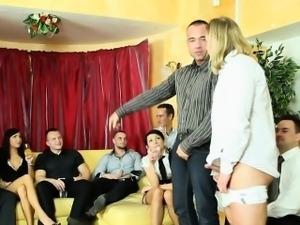 Sluts in group sucking cock