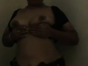 Indian Aunty Flashes Her Breasts