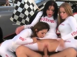 MILF Pit Crew Owning Race Car Drivers Cock