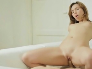 Petite tits lovely chick is fucked rough