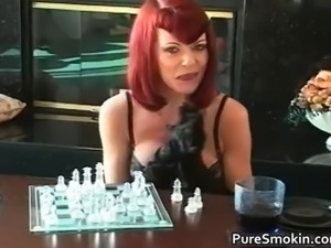 Knockers red head tramp smoking bdsm part2
