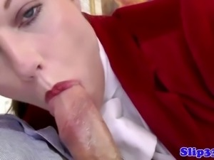 Classy amateur plowed by old mans hard cock and loves it