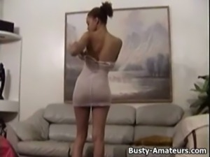 Gia masturbation her pussy while exposing her natural tits free