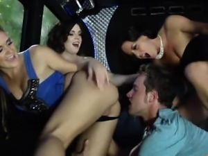 Cfnm group loving the cock together
