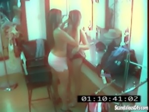 CCTV Captures A Hot And Skanky Lesbian Affair free