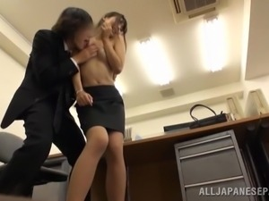 sexy japanese fucking in office