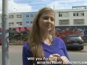 Czech blonde slut gives a great pov blowjob