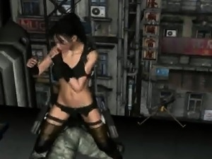 Hot 3D cartoon brunette gets fucked on a rooftop