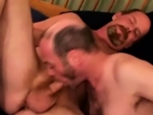 Hairy mature gets facialized