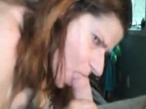 Mature woman still sucks hard dicks