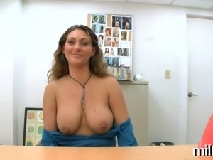 Horny and wild dildo playing