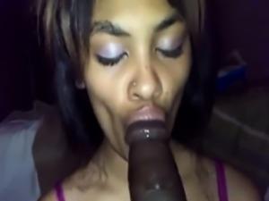 Cute Black Teen Sucks Massive Huge Black Dick