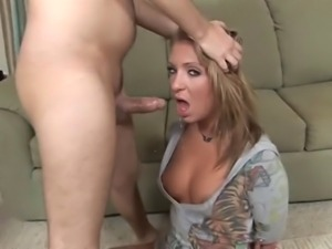 Stupid slut gets her throat fucked DTD