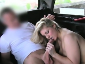 Busty amateur blonde slut tricked by the pervert driver