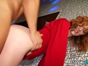 Slutty cfnm whore pounded