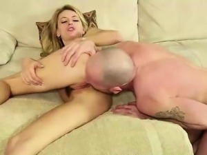 Teen blonde blowjob for older family friend