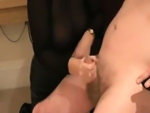 Boss Gets A Handjob At The Office
