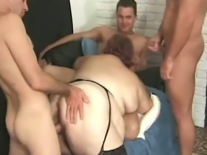 Huge ass and big titty fatty gets drilled by cocks
