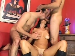 Fivesome ambisexual xxx act