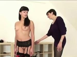 Mature british matron spanks babe