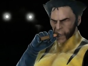 Busty 3D cartoon babe getting fucked by Wolverine