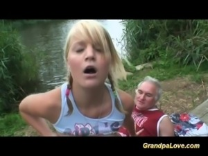 Grandpa gets lucky with babe free