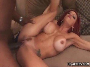 Mature redhead in interracial anal party free