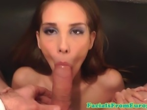 Small boobs facial lovers funny tit fuck