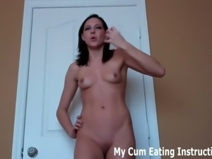 You are going to eat you cum when i tell you to.