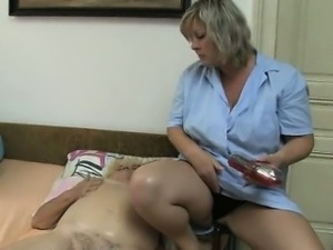 Nasty old woman gets horny getting her part2