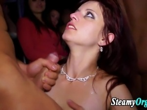 Amateur teen cfnm blowjob party