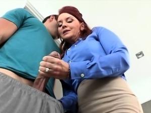 Cutie babe Janet Mason fucks a huge cock
