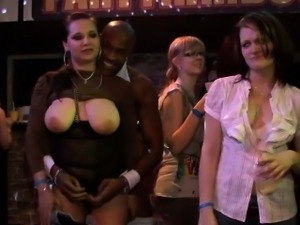Brunette hair slots sucking hard ramrod