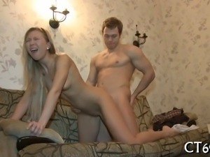 Horny lady spreads her legs