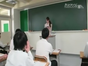 Teacher use vibrator remote controled in classroom free