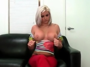 Nasty blonde slut gets horny taking part6