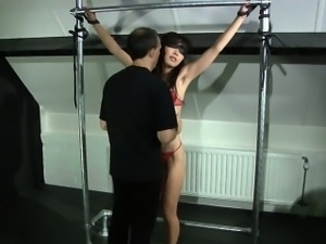 Japonese girl harsh waxed and pained in bdsm