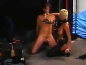 Dominatrix Abusing A Guys Cock