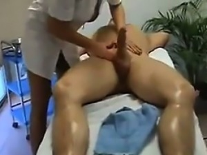 Blonde Slut Gives A Massage