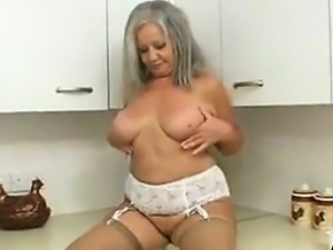 Naughty Granny In The Kitchen