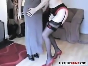 Mature Friends Have A Lesbian Experience