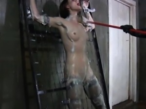 Masked sub unmasked and hosed down