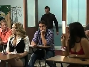 Hot Student Has Sex With The Teacher