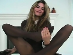 Hawt quim in darksome pantyhose
