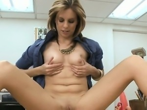 Naughty chick is shaking hunk\'s male pecker hard and wild