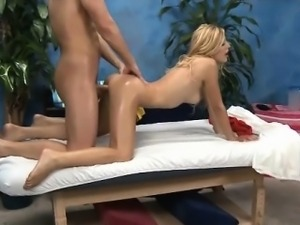 Sexy blonde babe goes crazy getting part2
